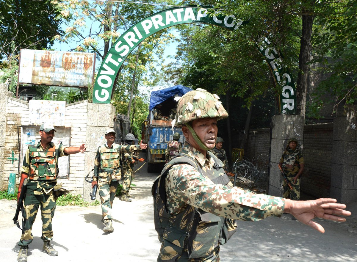 Image result for bsf in kashmir under siege