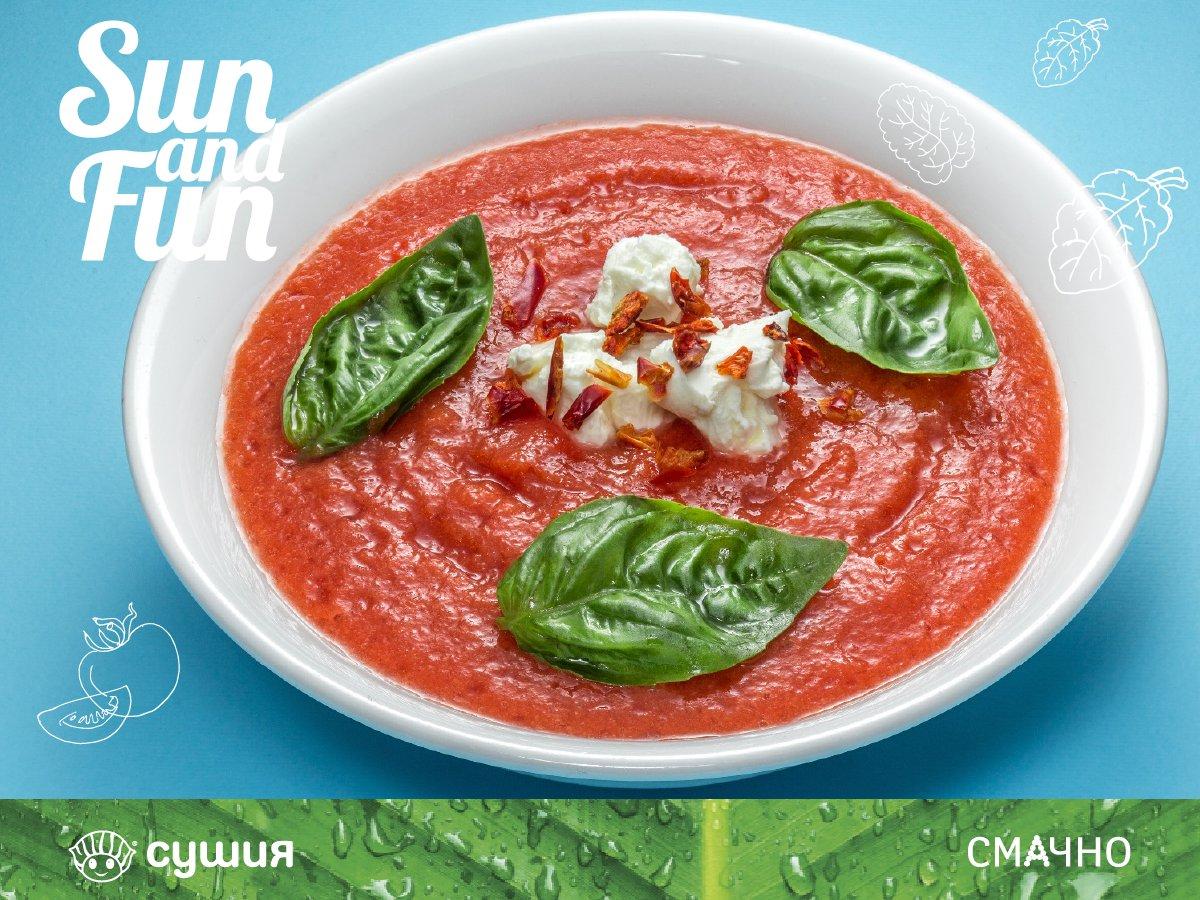 """Влітку прекрасно смакуватиме холодний томатний суп """"Мікадо"""" з легкою кислинкою. Спробуйте! https://t.co/6jlo82vHLh"""