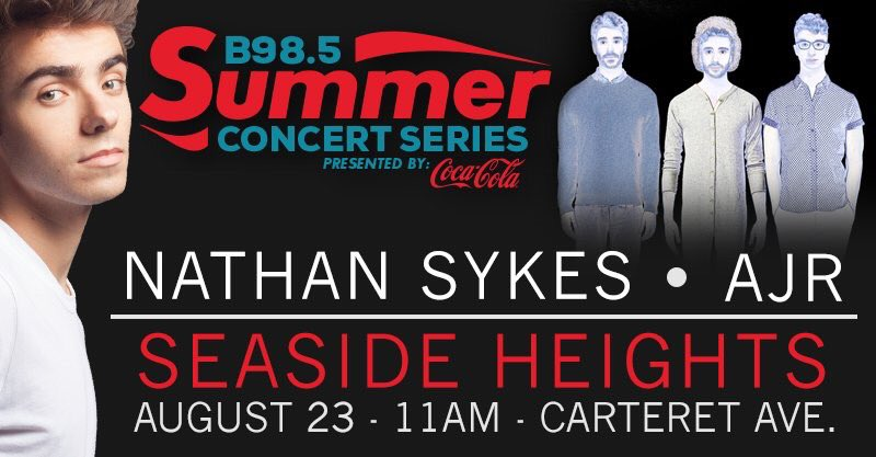 RT @RadioRashaud: Our last show of Summer 16! @NathanSykes + @AJRBrothers in @seasidehgtsnj! Free with beach admission @TheB985 https://t.c…