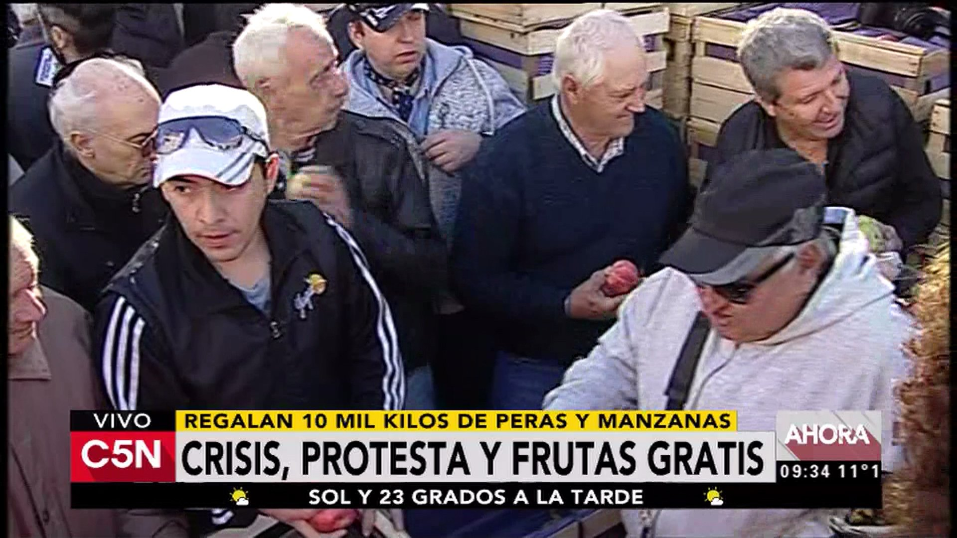 Thumbnail for Protesta de productores en Plaza de Mayo