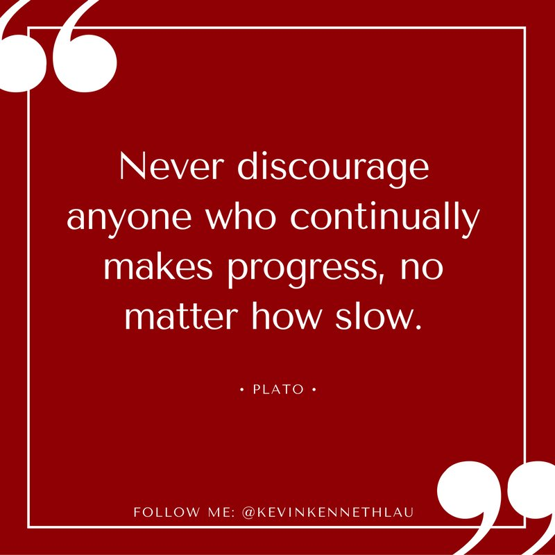 """Never discourage anyone.....who continually makes progress, no matter how slow."" - Plato https://t.co/H6mWGkvBrF"