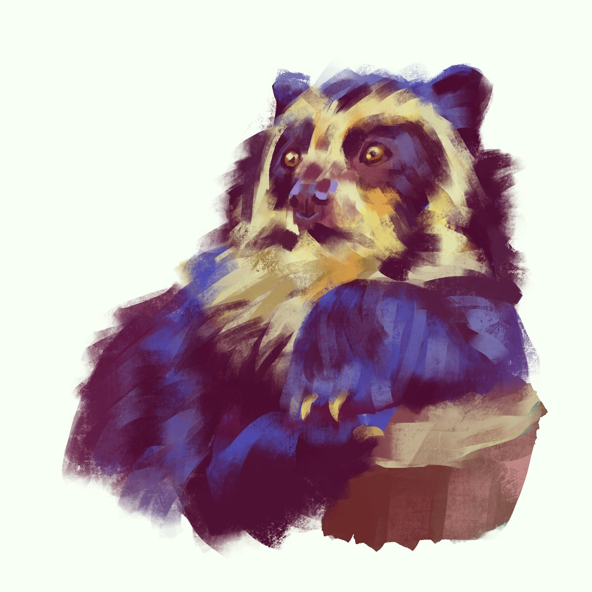 @Strange_Animals I love this bear so much I did his portrait, desperately handsome guy https://t.co/qlIxBsWkb4