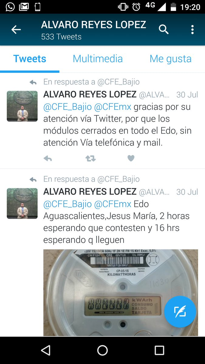 Alvaro Reyes Lopez On Twitter Sigo Sin Luz Por Que La