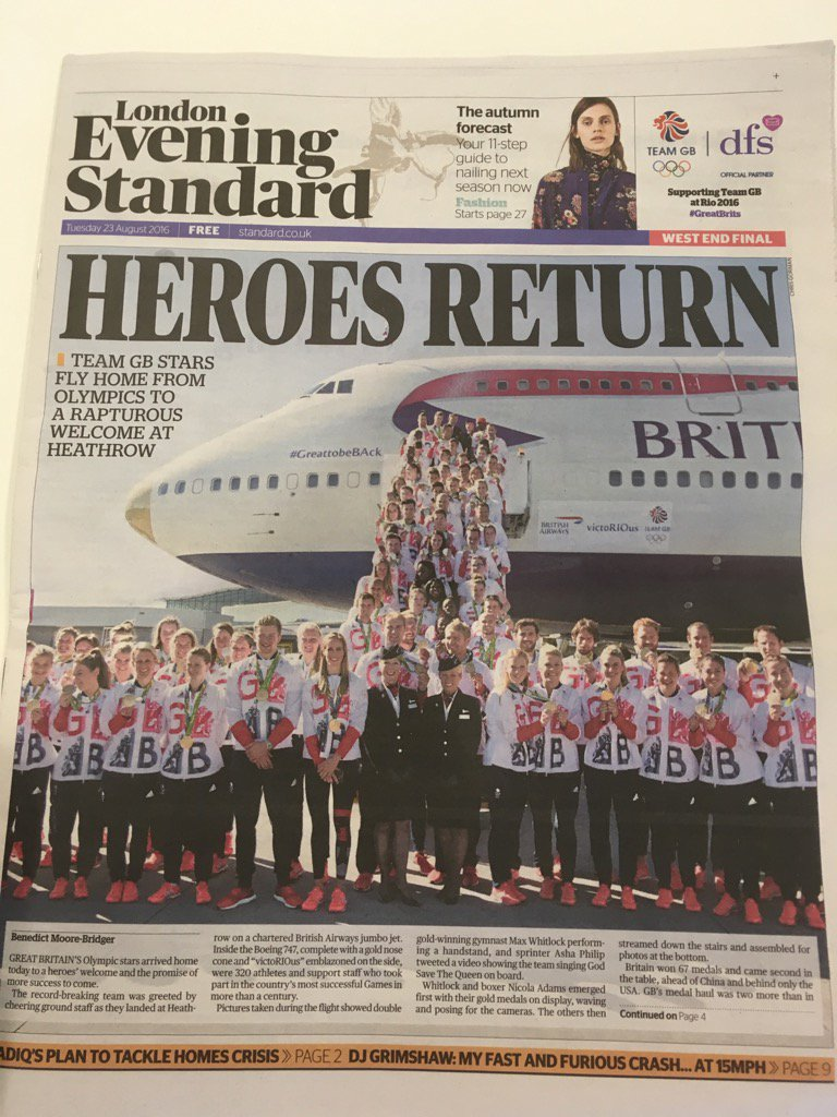 Can you get better PR coverage than this - for either Team GB or BA? https://t.co/svDwx1ccgf
