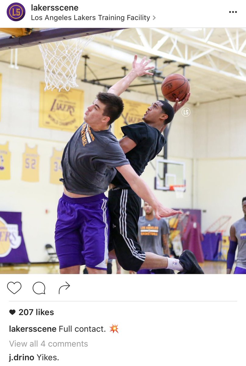 Clarkson out here baptizing the rookie https://t.co/XYmEY7nSWw