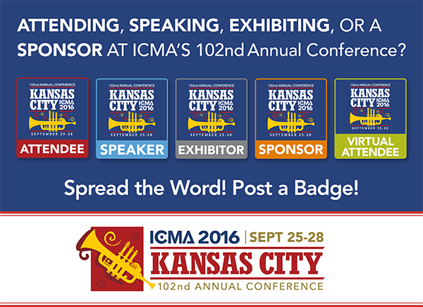 Did you know with a $25 student membership, you can attend #ICMA2016 for free?  Contact customerservices@icma.org