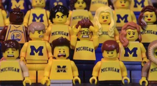 Michigan State over Michigan, LEGO-style --