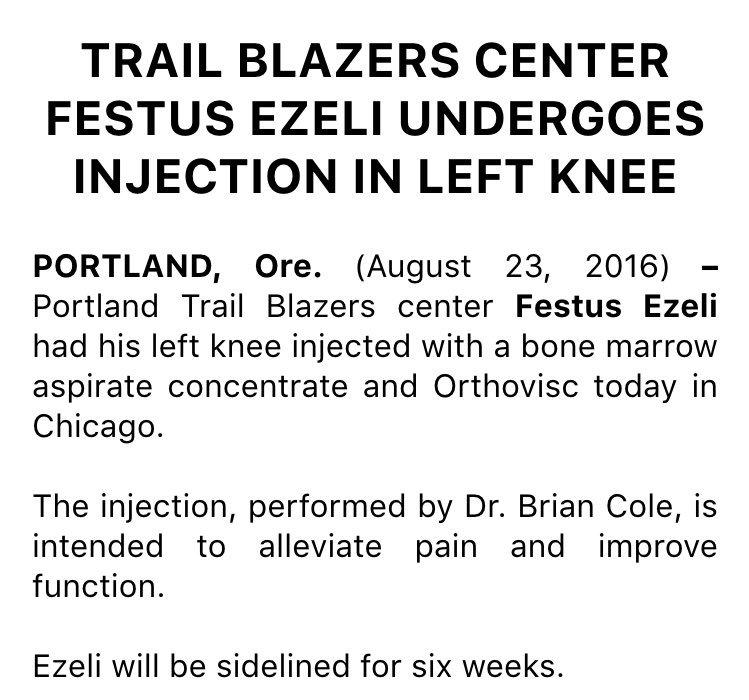 Blazers news: https://t.co/EuQuoirWEq
