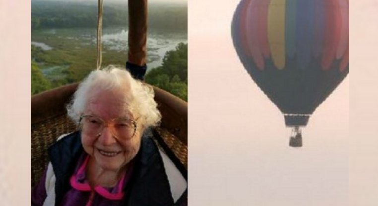 100-year-old woman takes hot air balloon ride for birthday Read