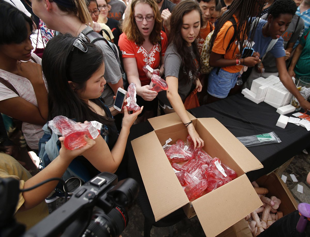 Sex toy distribution at UT for campus carry protest ...