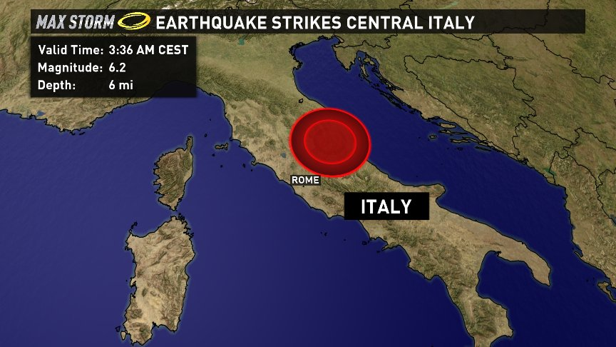A magnitude 6.2 earthquake has been reported in Central Italy in the last hour: @kvue