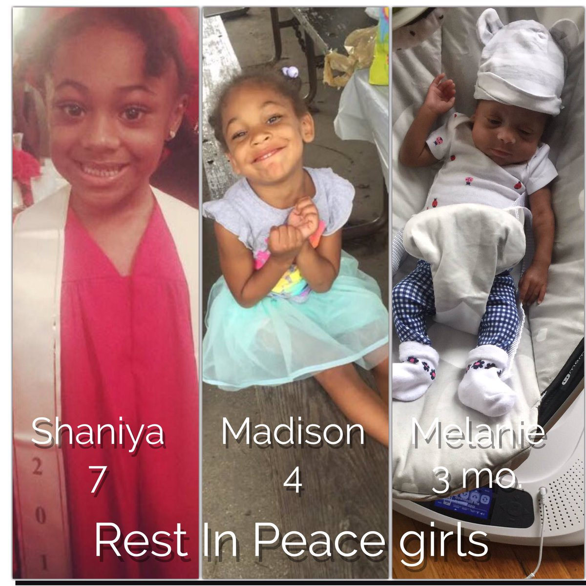 RIP: The youngest victims in Tues morning's fire at 81/Essex. Shaniya, Madison & Melanie @WGNNews