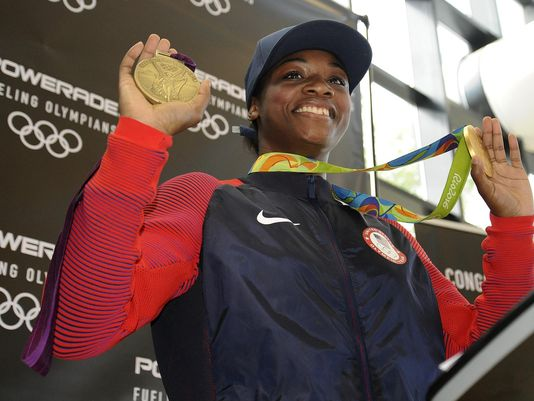 @Claressashields back in Flint, shares victory message Rio2016