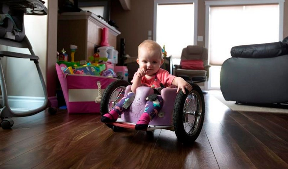 Dad builds custom wheelchair for daughter paralyzed by cancerMore