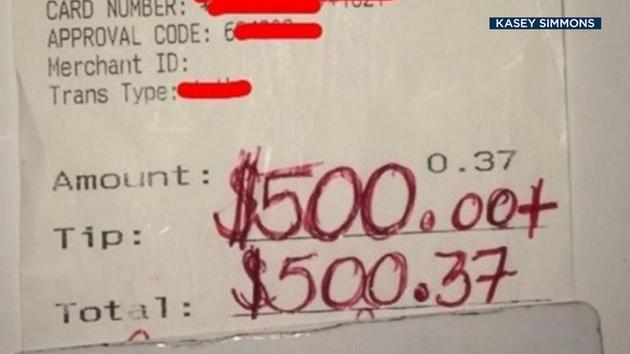 Waiter receives $500 tip after showing kindness toward grieving widow: abc13