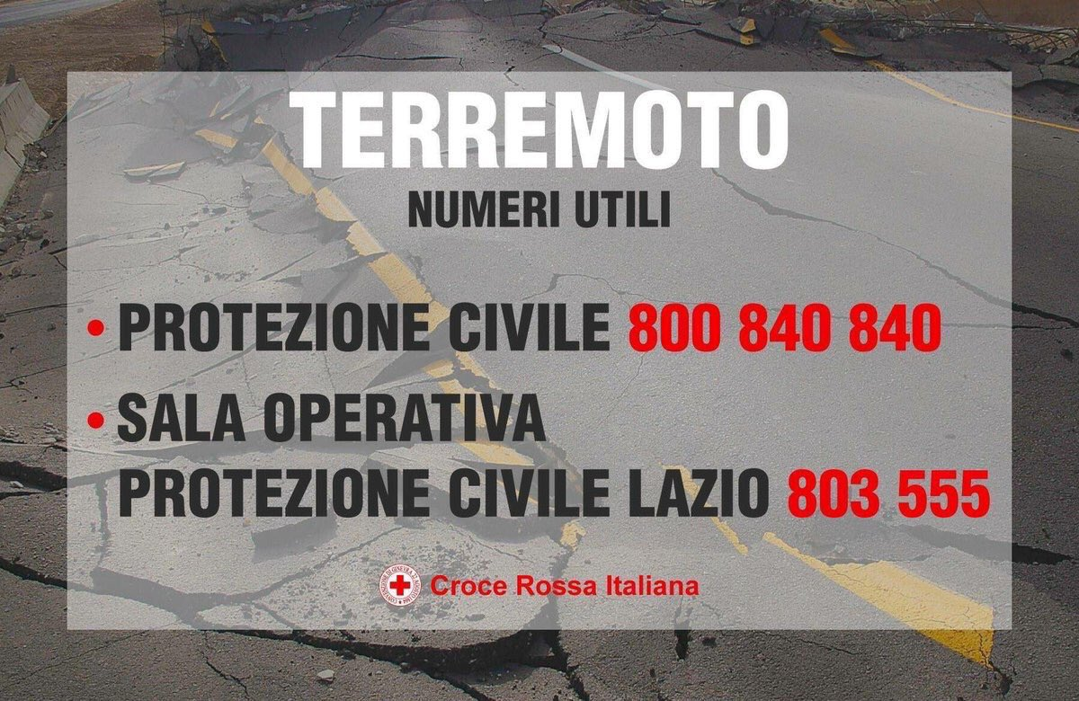 Have you been affected by the #ItalyEarthquake? Civil Protection hotline https://t.co/zStjkyb5S0 #terremoto https://t.co/4lDIrdfl7R