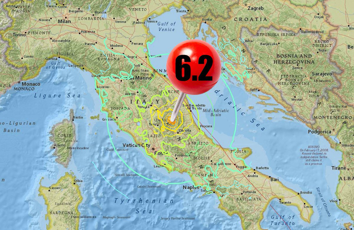DEVELOPING 6.2 earthquake rocks Central Italy