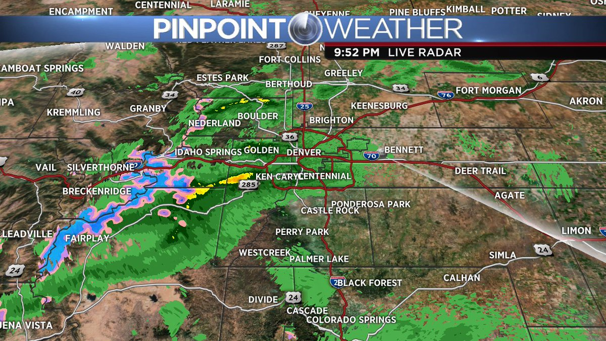 cowx light showers around Denver...and look mountain snow in blue on radar we should get some nice pics tomorrow