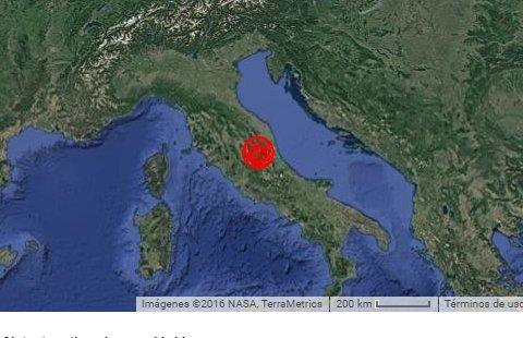 Forti terremoti nelle ultime ore in Centro Italia