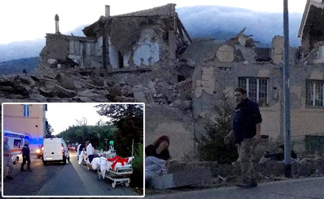 At least 6 dead as a result of the powerful early morning earthquake in Italy