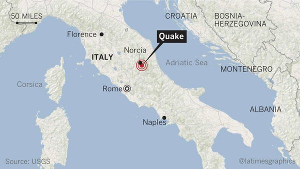 Two bodies have been pulled from the rubble after quake strikes Rome and central Italy