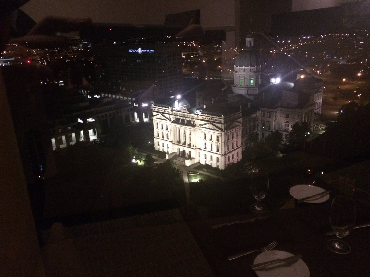 Any guesses where I am for WTHRSunrise? No, not the statehouse. Hint: this is my view