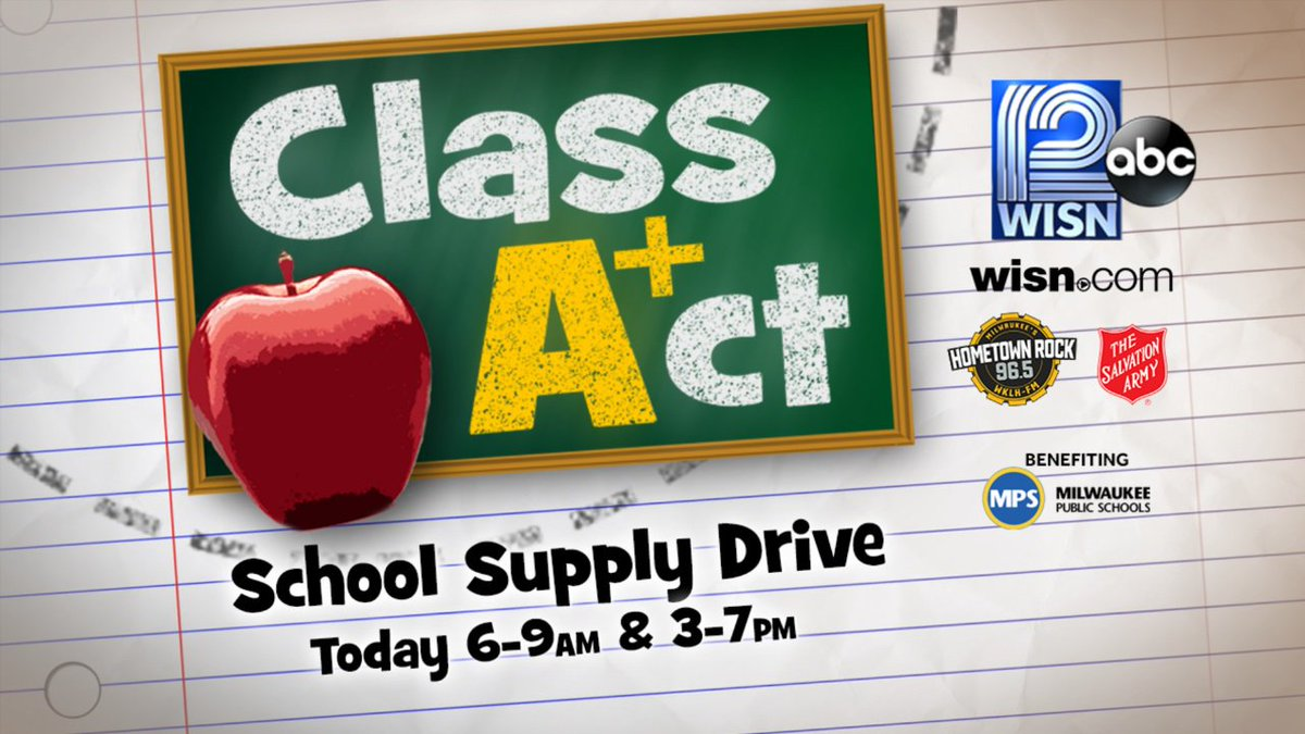 Day two of our ClassActMKE Supply Drive is underway! Call volunteers at 414-799-9476 to donate! @SAmilwaukee