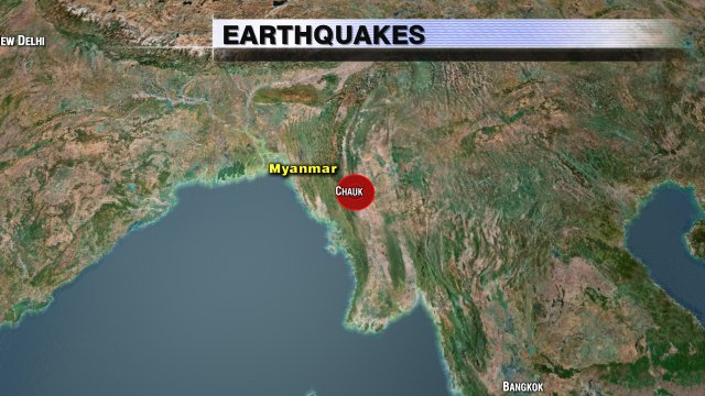 Another quake this morning. This time in Myanmar (formerly Burma). Estimated at 6.8