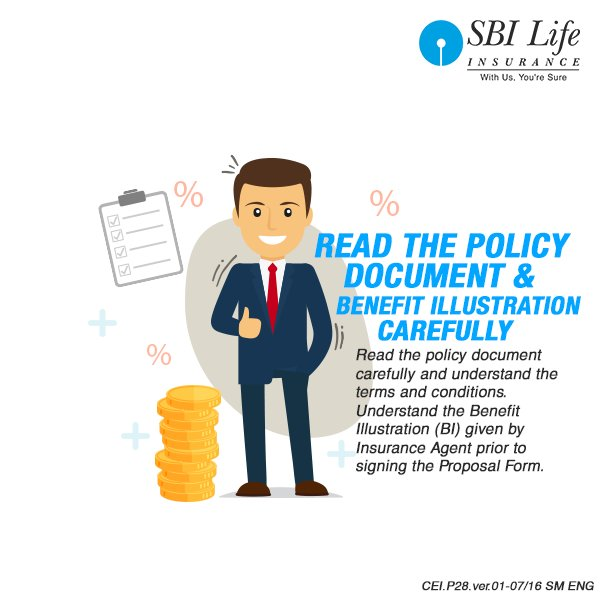 """SBI Life Insurance on Twitter: """"Become a smart policy ..."""