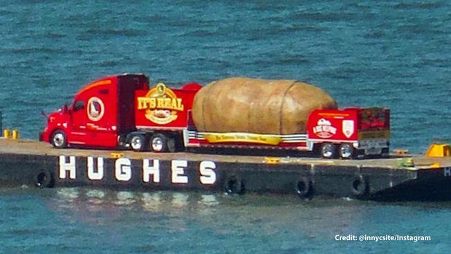 This is why a 6-ton potato is floating down the Hudson River