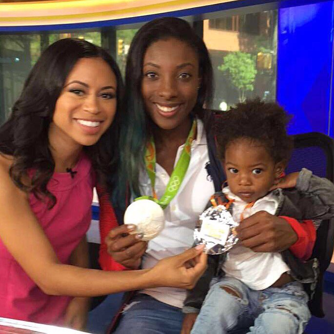 Olympian Nia Ali is home w/her Silver Medal!Her son was by her side in Rio2016 so we gave him silver too!TeamUSA