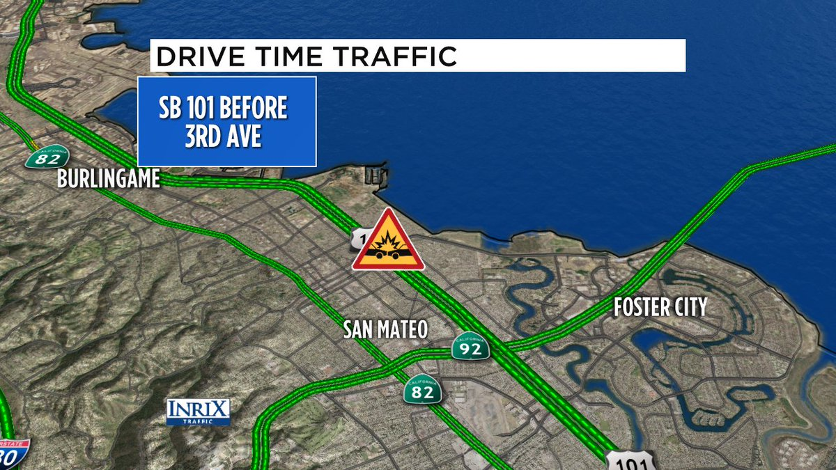 San Mateo update- sounds like SB 101 crash before 3rd off to shoulder, but emergency responders still in right lane.