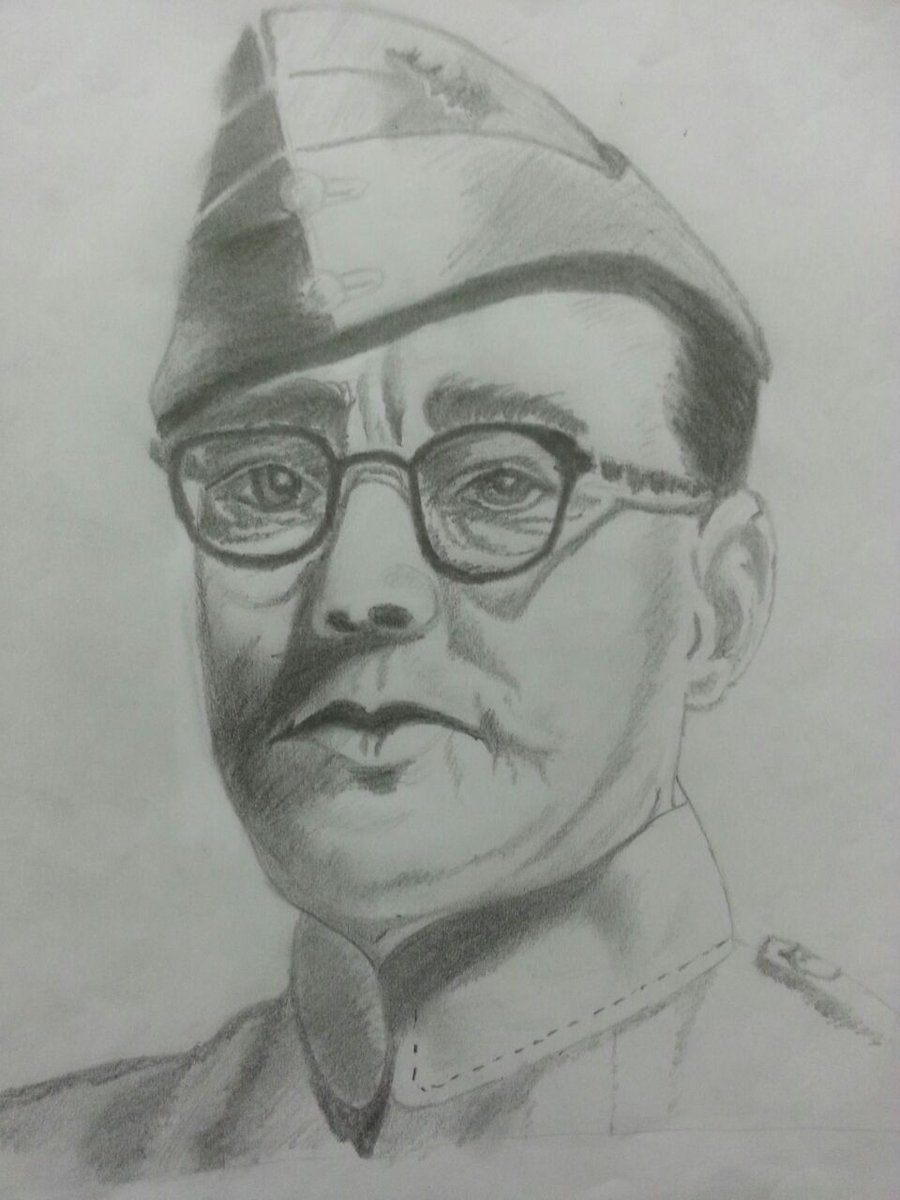 Vadiraj c s 🇮🇳 on twitter pencil sketch of netaji subhash