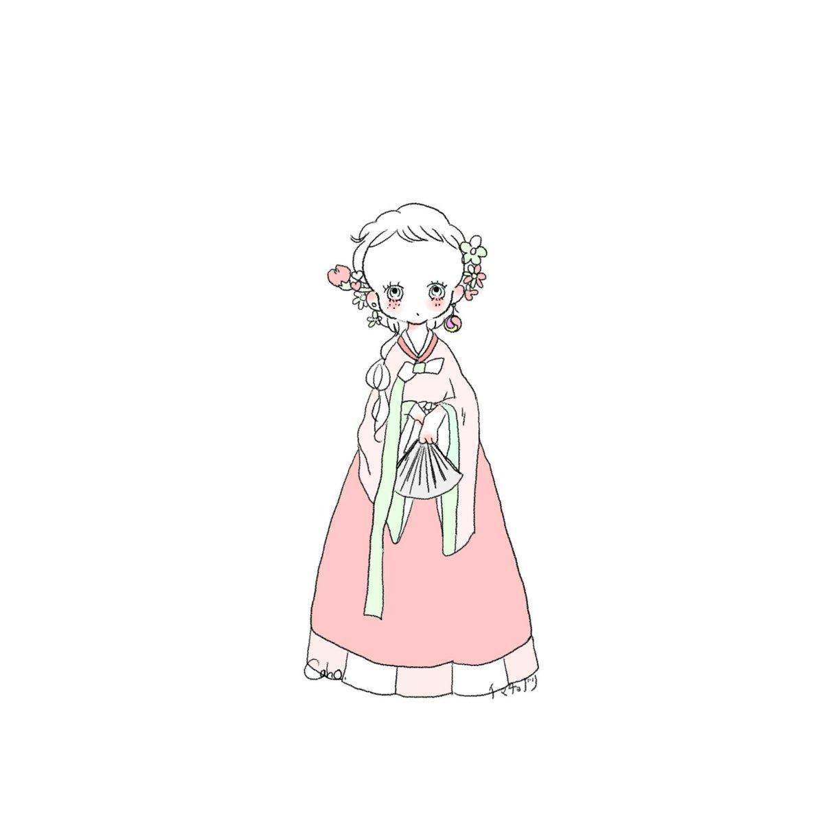 Caho On Twitter 世界の衣装が可愛すぎて描きました 韓国