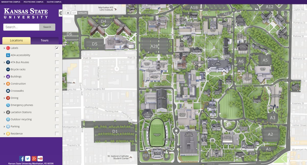 K State Campus Map K State Libraries on Twitter: