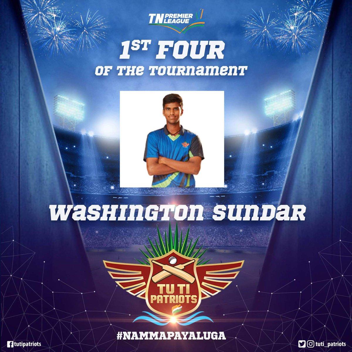 Tuti Patriots On Twitter Washington Sundar Hits The First 4 Of Tnpl 2016 Tutvscsg