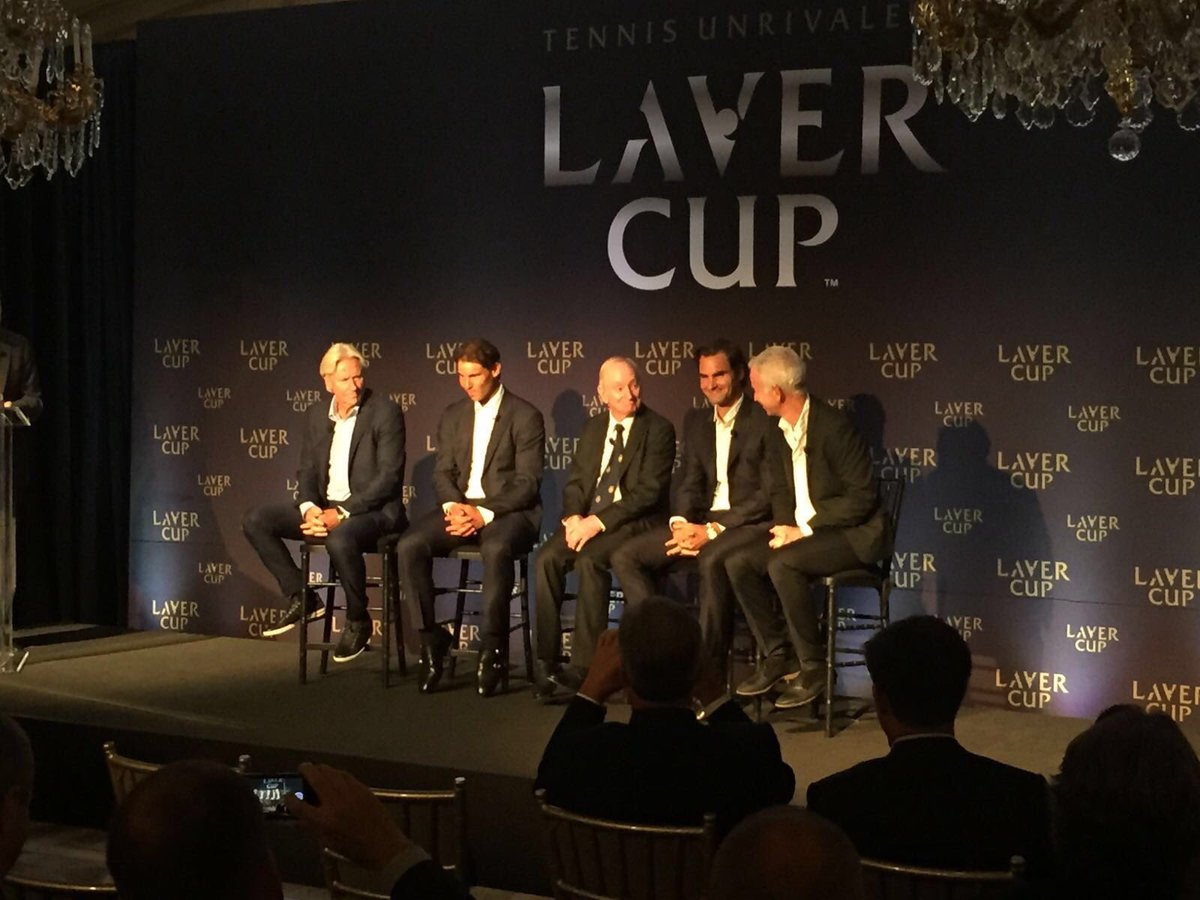 Just announced: @rogerfederer and @RafaelNadal will play doubles together at the inaugural #LaverCup in 2017! https://t.co/X6fRPSLqHH
