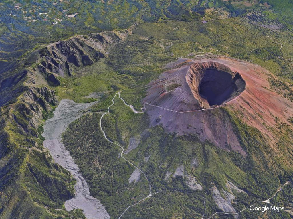 Google Maps On Twitter Whats Inside Mount Vesuvius Crater - Mount vesuvius map