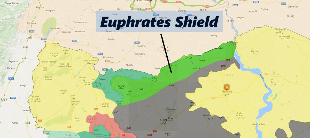 Image result for euphrates shield map
