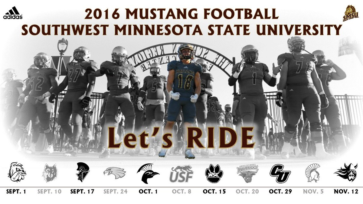 Smsu Football On Twitter 2016 Smsufootball Schedule Poster