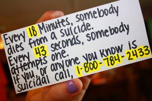 Feeling down? Make the call...Getting help isn't a sign of weakness, it shows strength. YOU ARE NOT ALONE. https://t.co/pXGcywtBmj