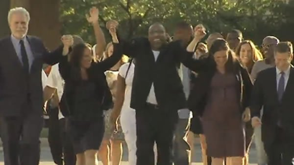 Philadelphia man now free after spending 25 years behind bars for crime he didn't commit