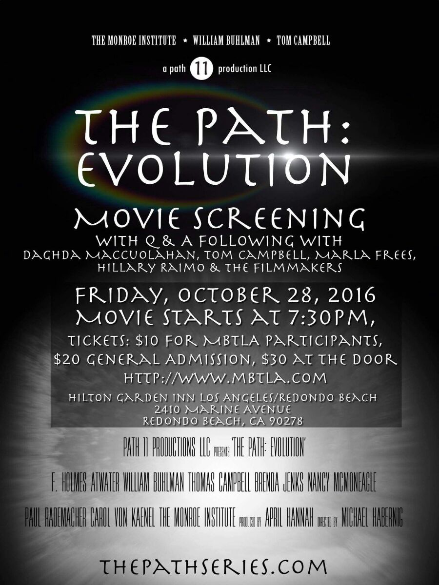 See The Path: Evolution Movie Screening/Q&A in LA https://t.co/5Ehc5zaDeB Fri Oct 28 ==> https://t.co/w95YWsZLc5 https://t.co/3hpGDfs1lv