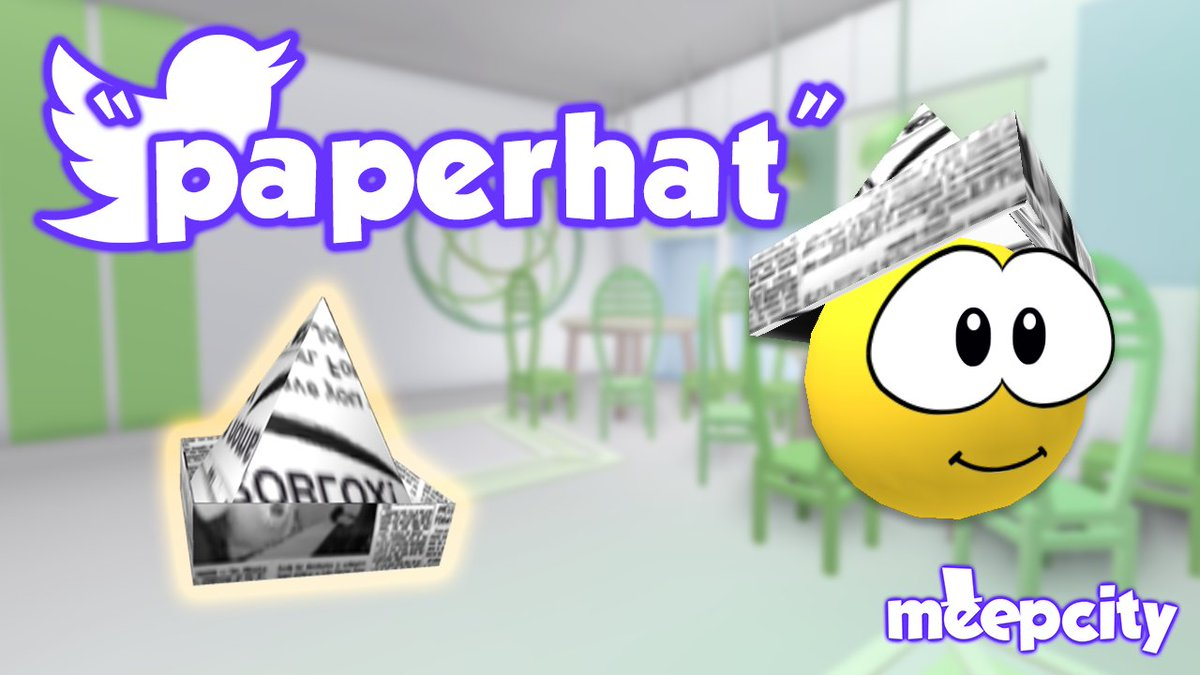Roblox Get Free Plus On Meep City Alexnewtron On Twitter Here S The Fourth Meepcity Code Of The Week Enter Code Paperhat For This Free Meep Accessory