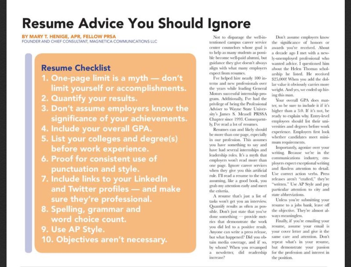 Our Professional Advisor, @maryhenige, featured in FORUM! Great advice! (cc: @wsuprssa) https://t.co/UnV3DdCjWq