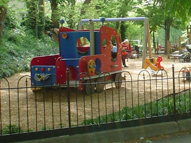 Just as we suspected, the missing playground firetruck was an inside job.