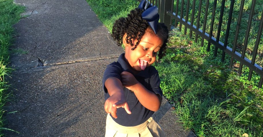A big shout-out to this 2-year-old girl who is amped for her first day of school: https://t.co/FlCb8fmMKk https://t.co/H8KcLR38fI