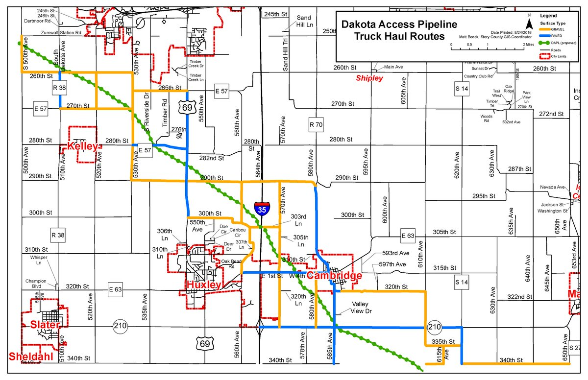 Dakota Access Pipeline Iowa Map.Story County Iowa On Twitter Here Is A Map Of The Haul Routes