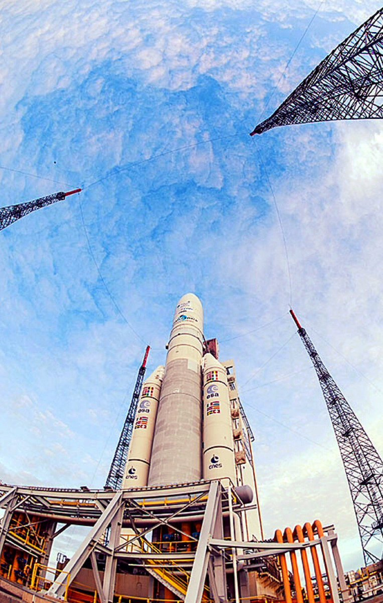 Watch along with us around 5:30 ET as #Intelsat33e and #Intelsat36 launch on #Ariane5!