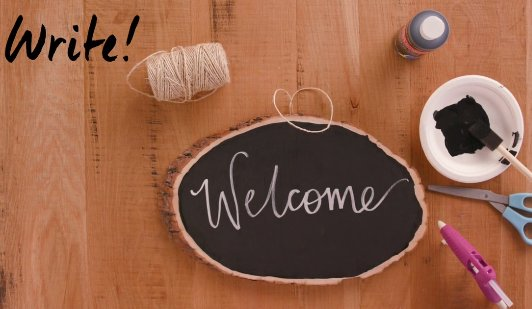 Get crafty with this awesome DIY chalkboard welcome sign: https://t.co/fmV3kESbuZ https://t.co/CBGGmq2FT6